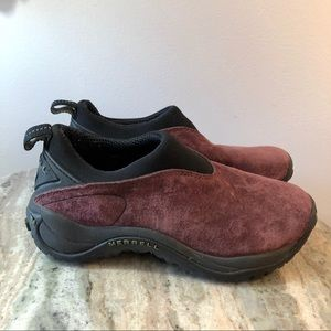 Merrell Orbit Mocs size 6.5 wine red hiking shoes